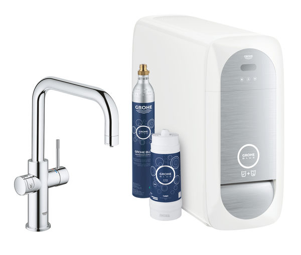 Keittiöhana Grohe Blue Home Duo U-spout Starter Kit Kromi (31456000)