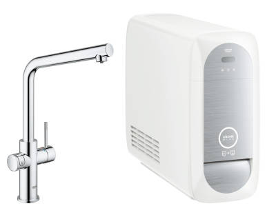 Keittiöhana Grohe Blue Home Duo L-spout Starter Kit Kromi (31454000)